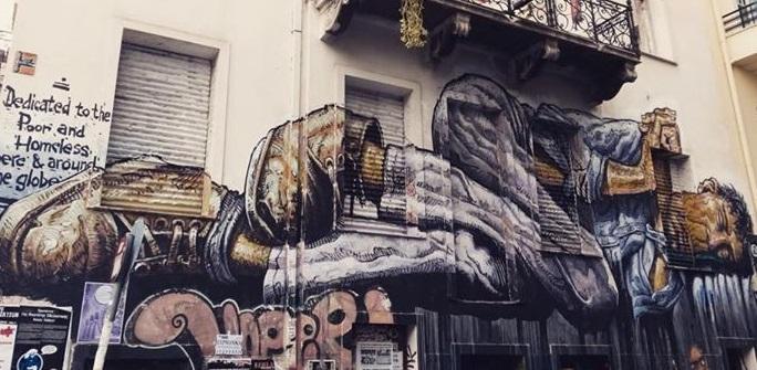 Живописные выражения кризиса в Афинах