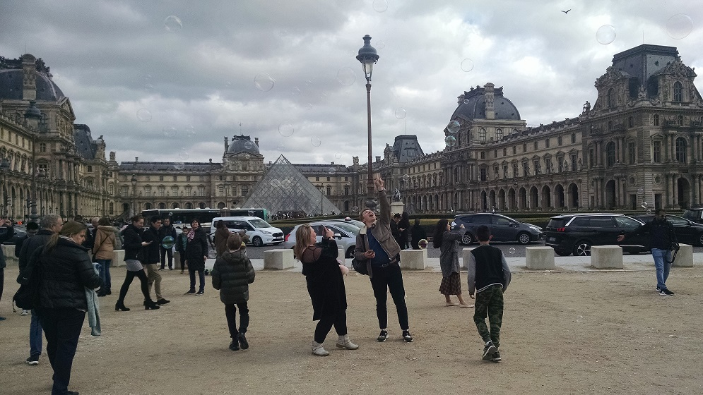 visitors to the louvre on free days